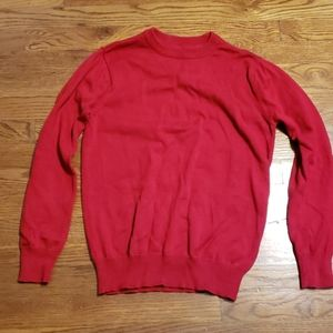 Red sweater kids sz XL(16)